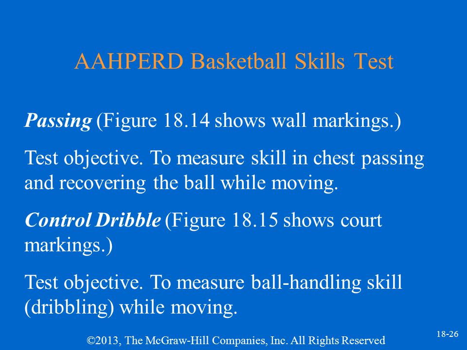 AAHPERD Basketball Skills Test