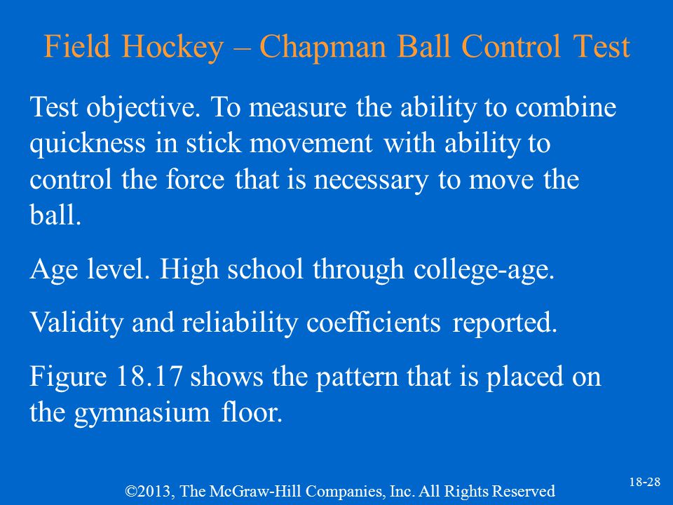 Field Hockey – Chapman Ball Control Test