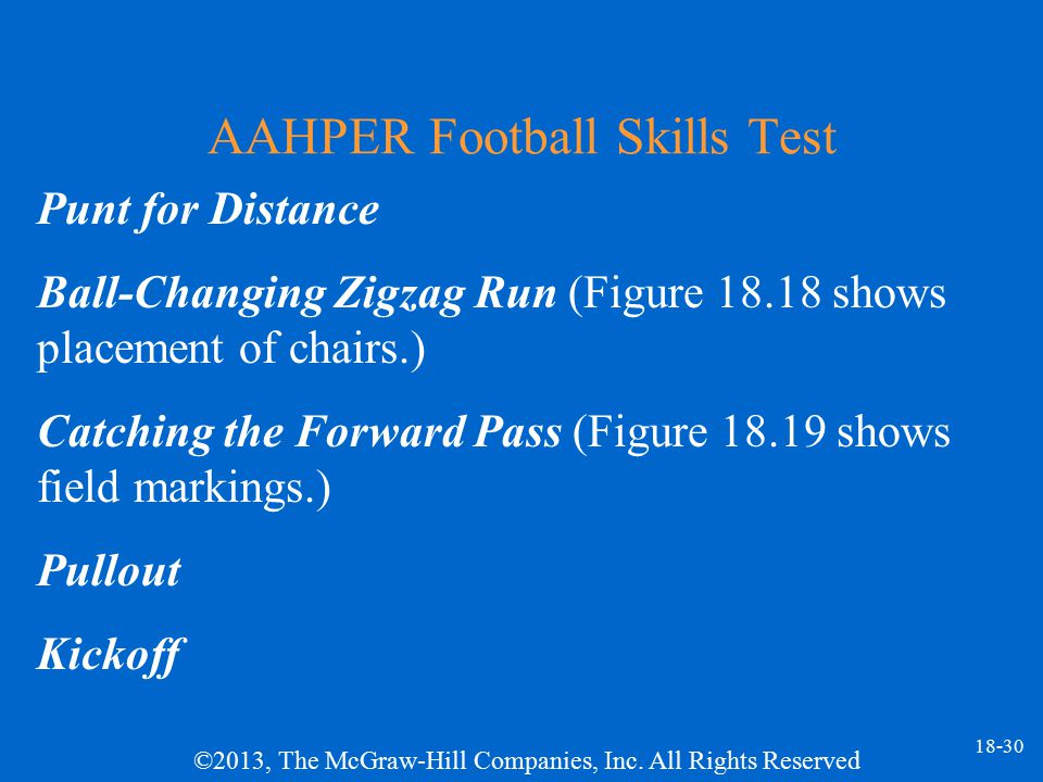 AAHPER Football Skills Test