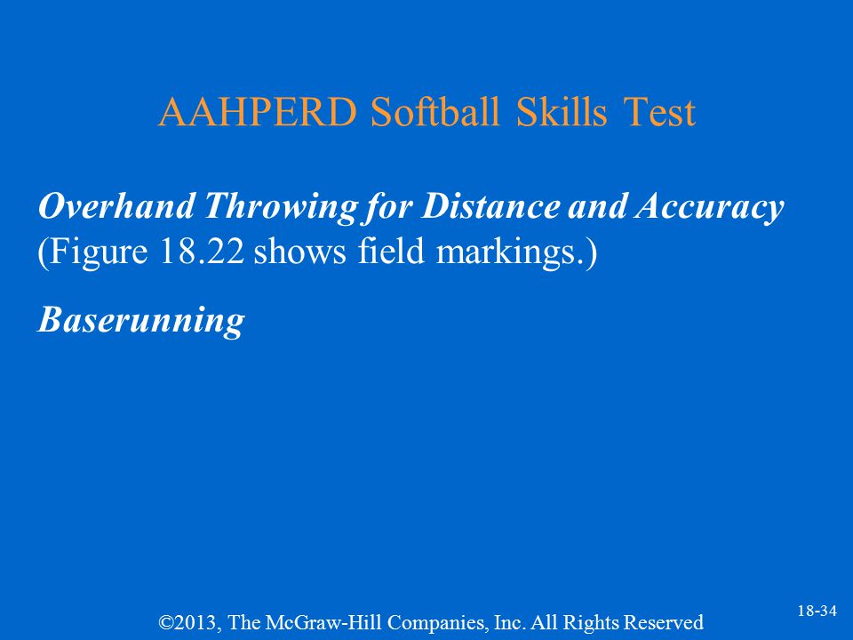 AAHPERD Softball Skills Test