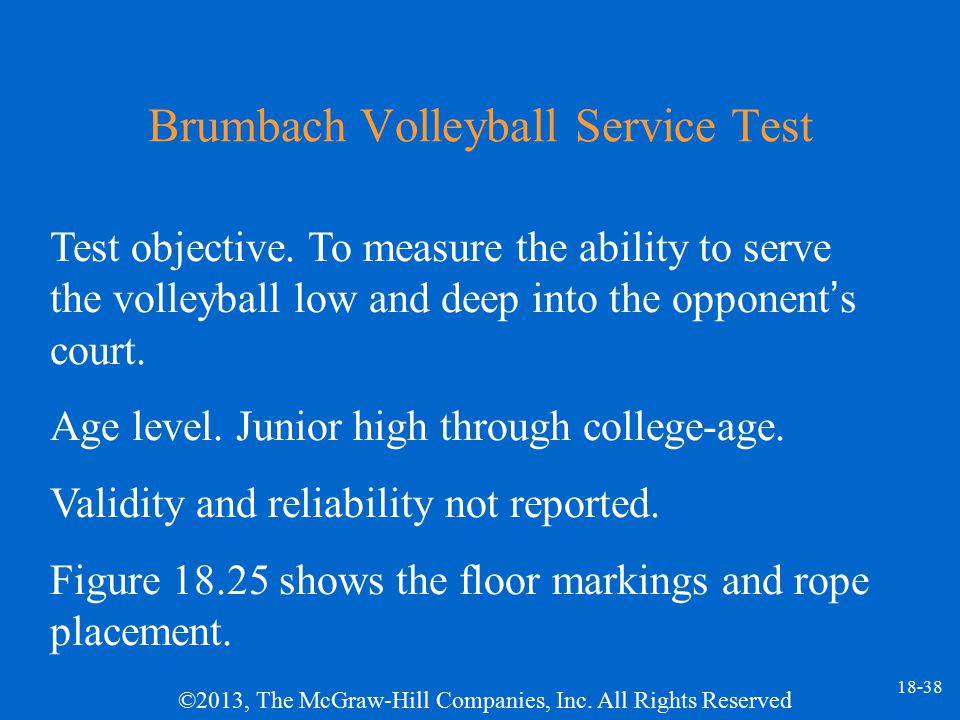 Brumbach Volleyball Service Test