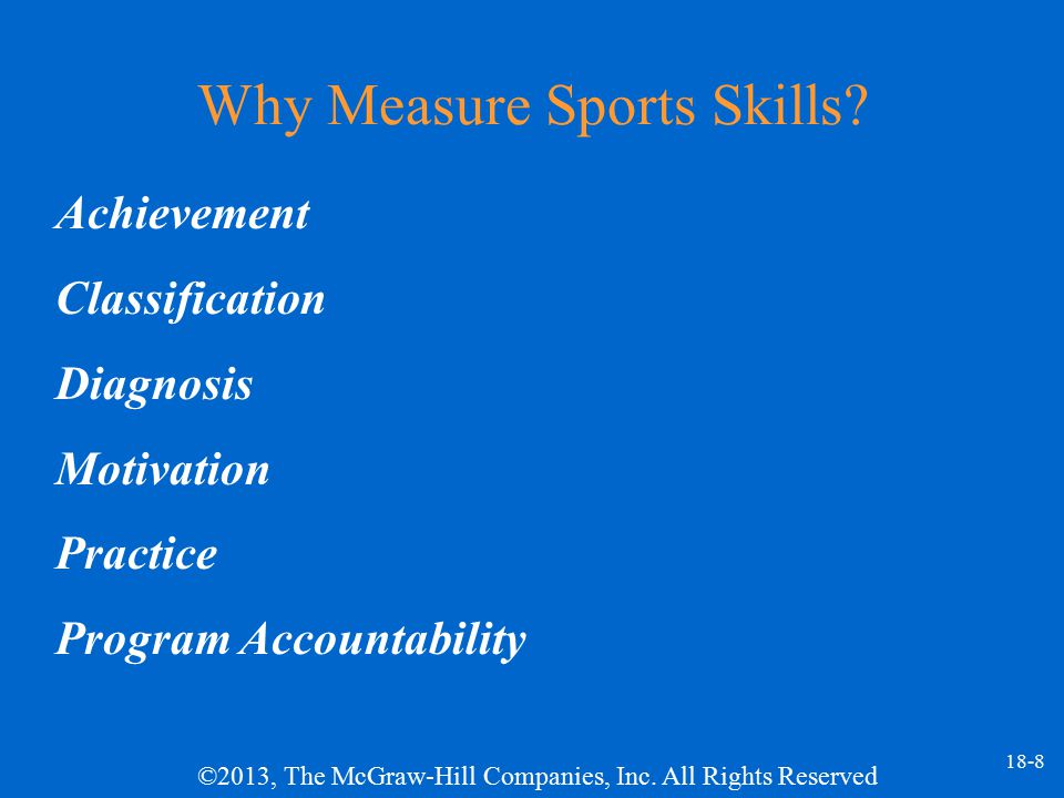 Why Measure Sports Skills