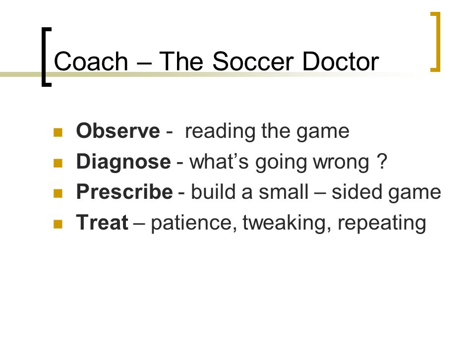 Coach – The Soccer Doctor