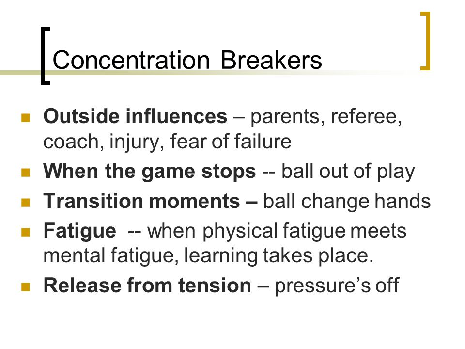 Concentration Breakers
