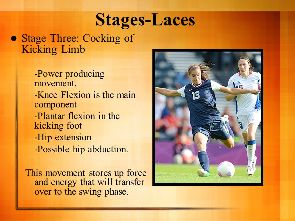 Stages-Laces Stage Three: Cocking of Kicking Limb
