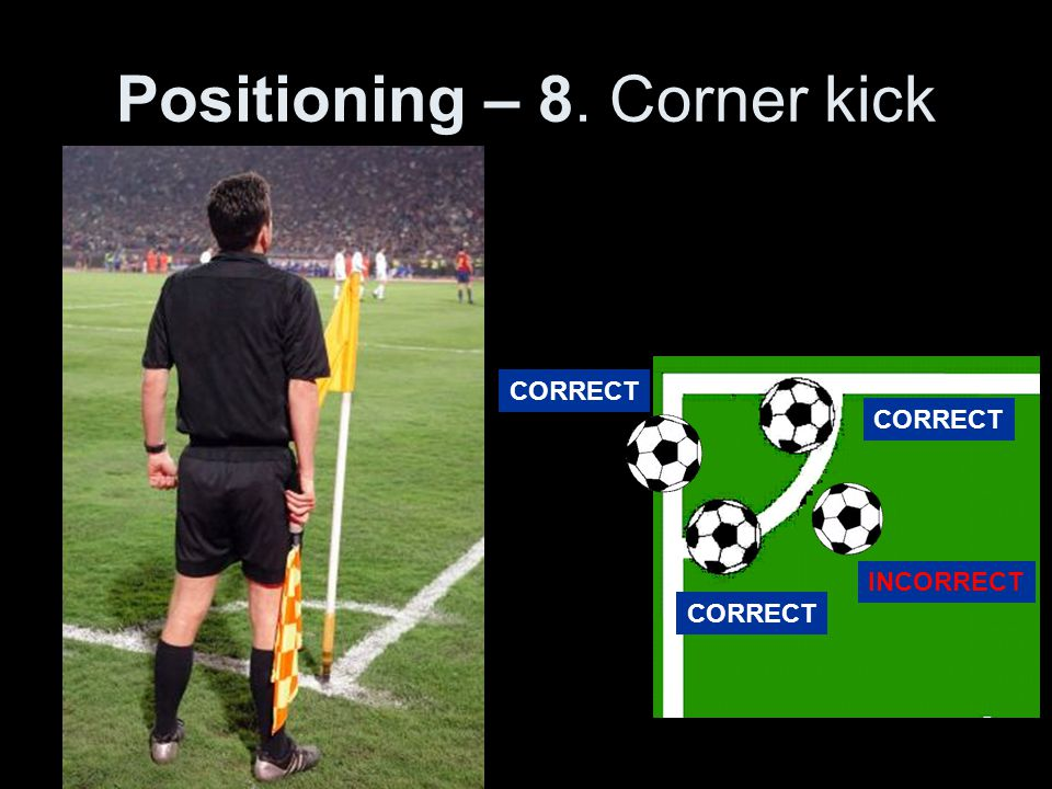 Positioning – 8. Corner kick