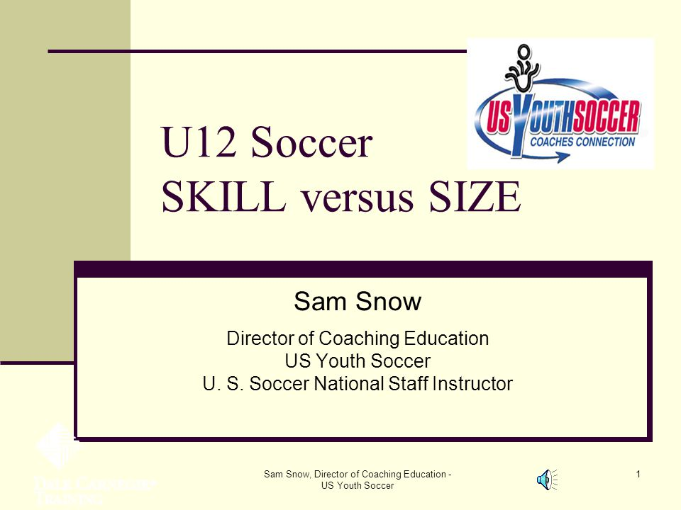U12 Soccer SKILL versus SIZE