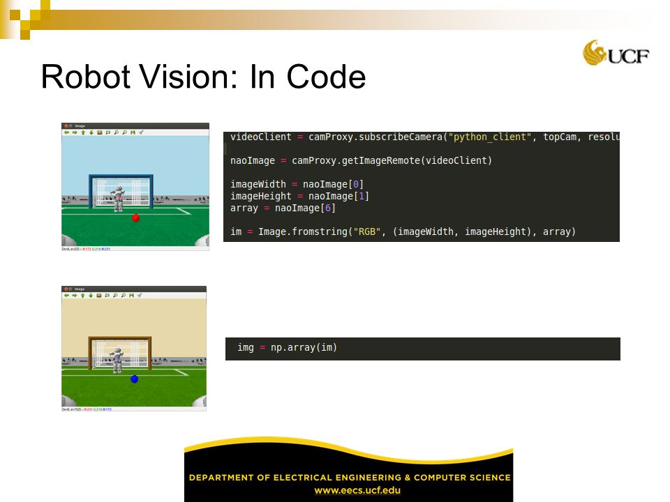Robot Vision: In Code