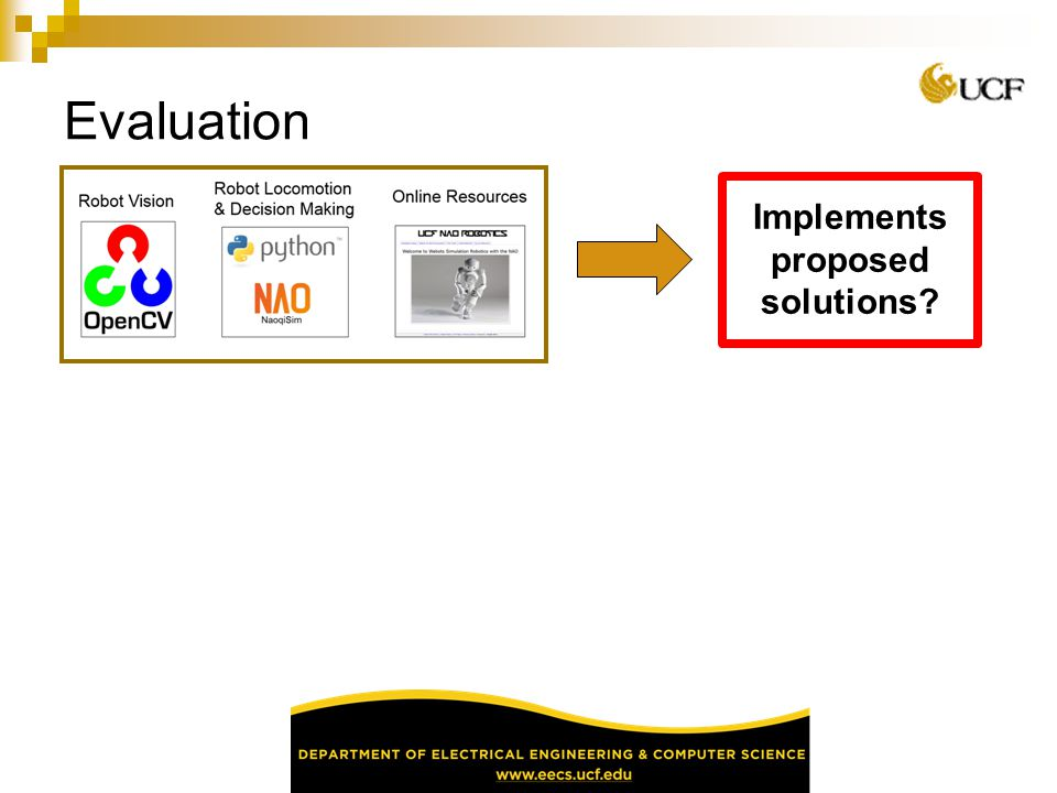 Implements proposed solutions