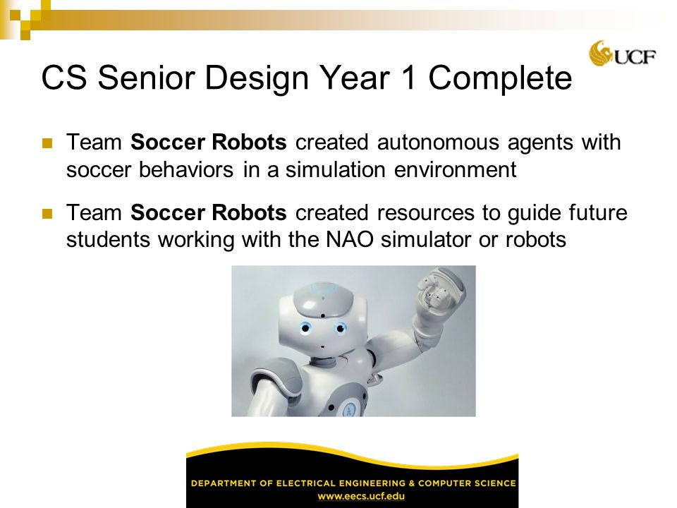 CS Senior Design Year 1 Complete