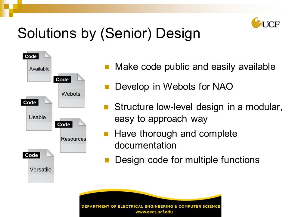 Solutions by (Senior) Design