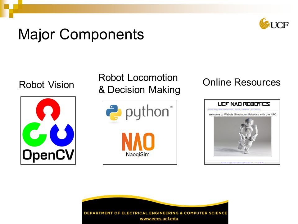 Major Components Robot Locomotion & Decision Making Online Resources