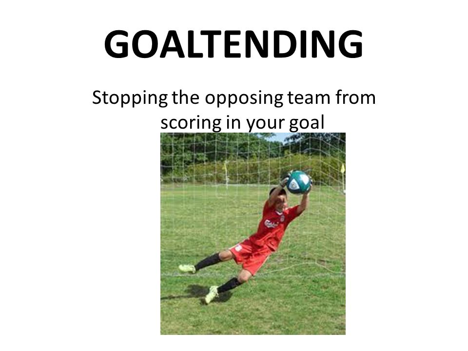Stopping the opposing team from scoring in your goal