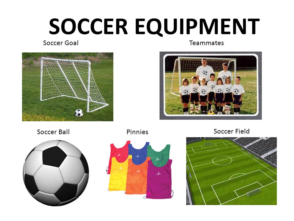 SOCCER EQUIPMENT Soccer Goal Teammates Soccer Ball Pinnies