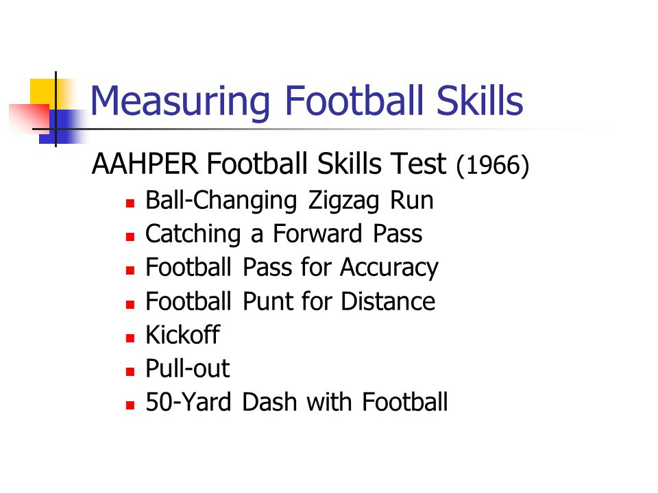 Measuring Football Skills