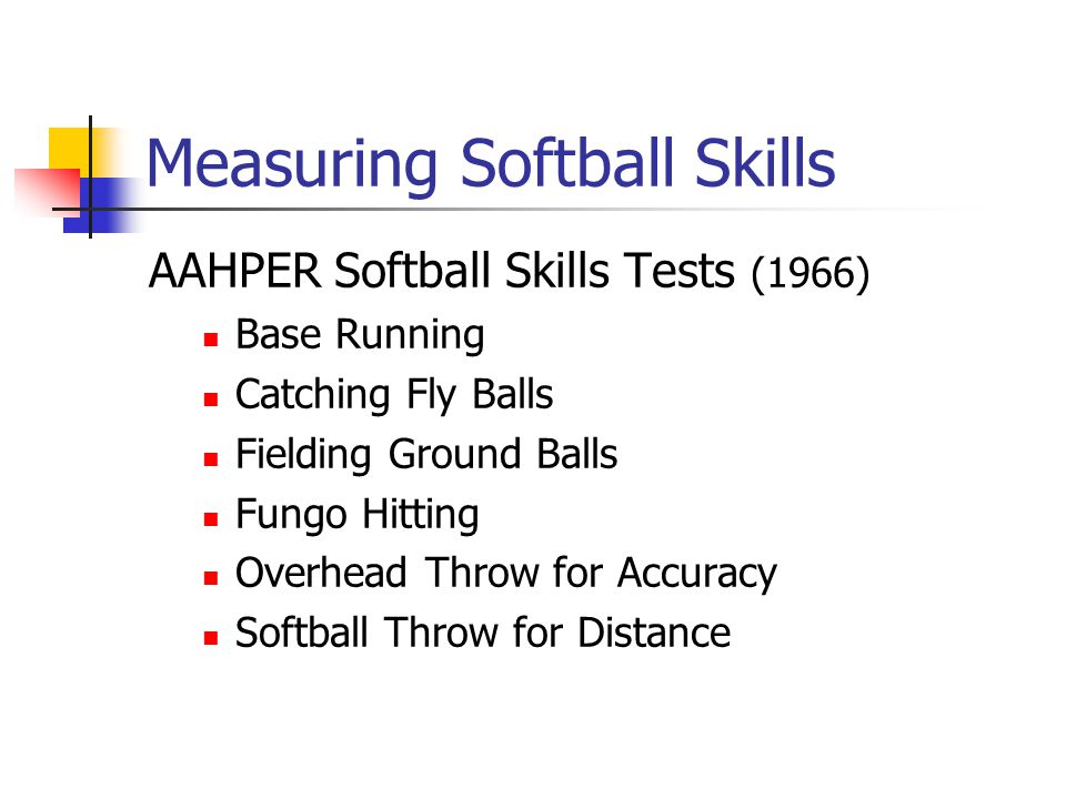 Measuring Softball Skills