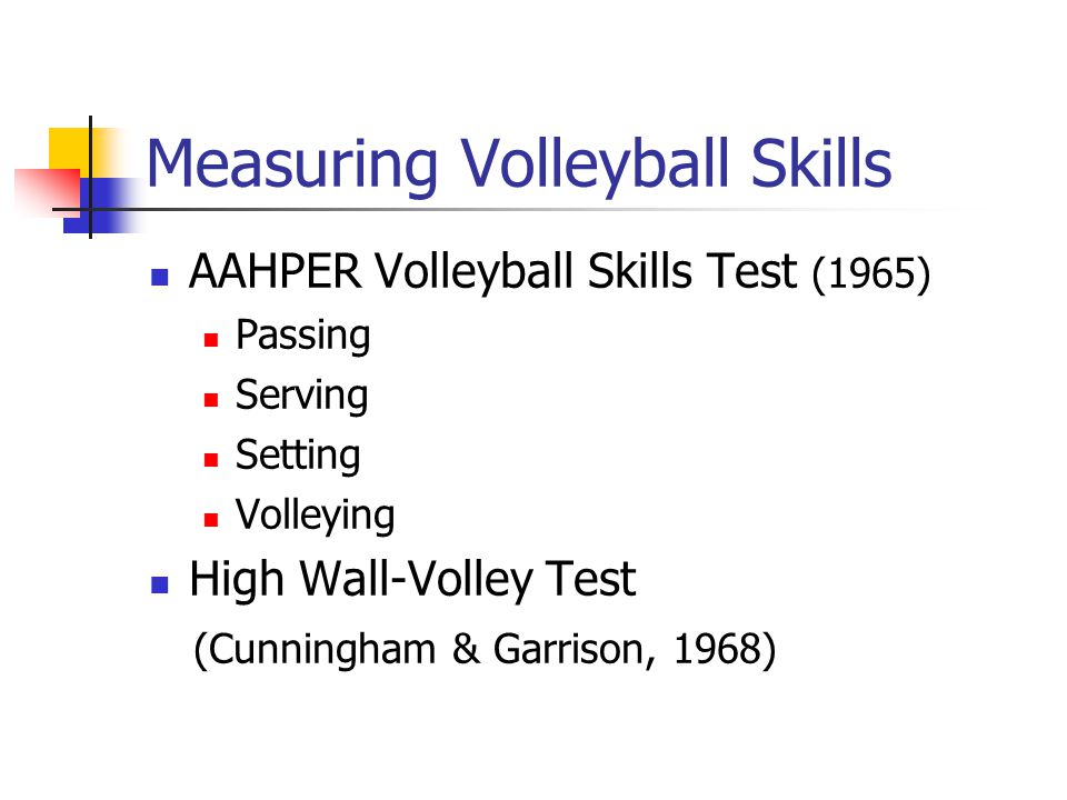 Measuring Volleyball Skills