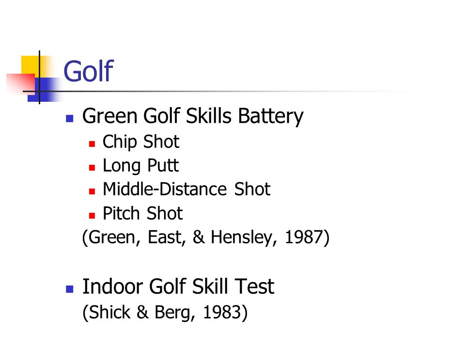 Golf Green Golf Skills Battery Indoor Golf Skill Test Chip Shot