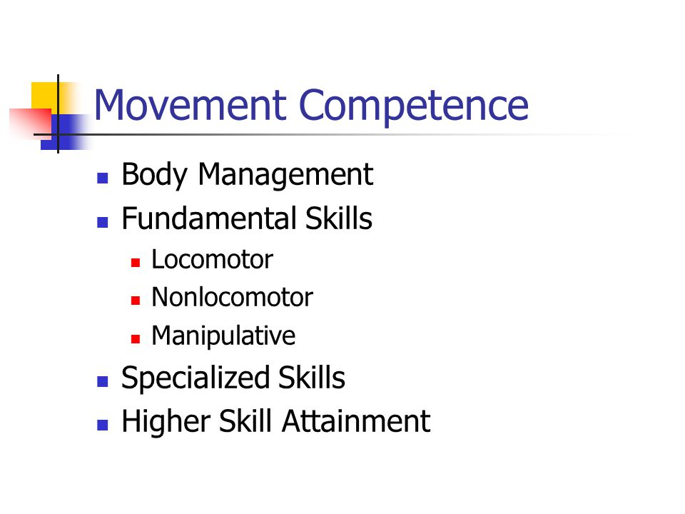 Movement Competence Body Management Fundamental Skills