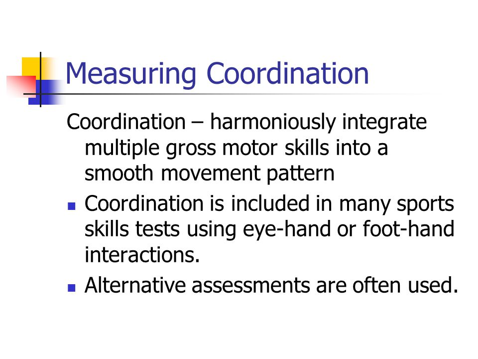 Measuring Coordination