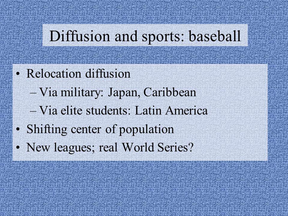 Diffusion and sports: baseball