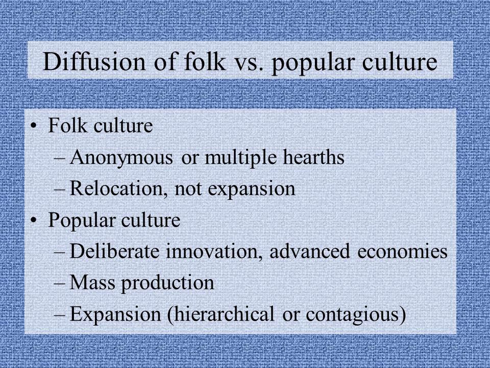 Diffusion of folk vs. popular culture