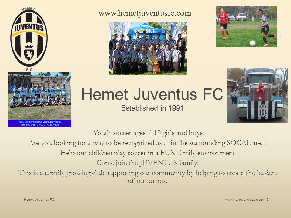 Hemet Juventus FC Youth soccer ages 7-19 girls and boys