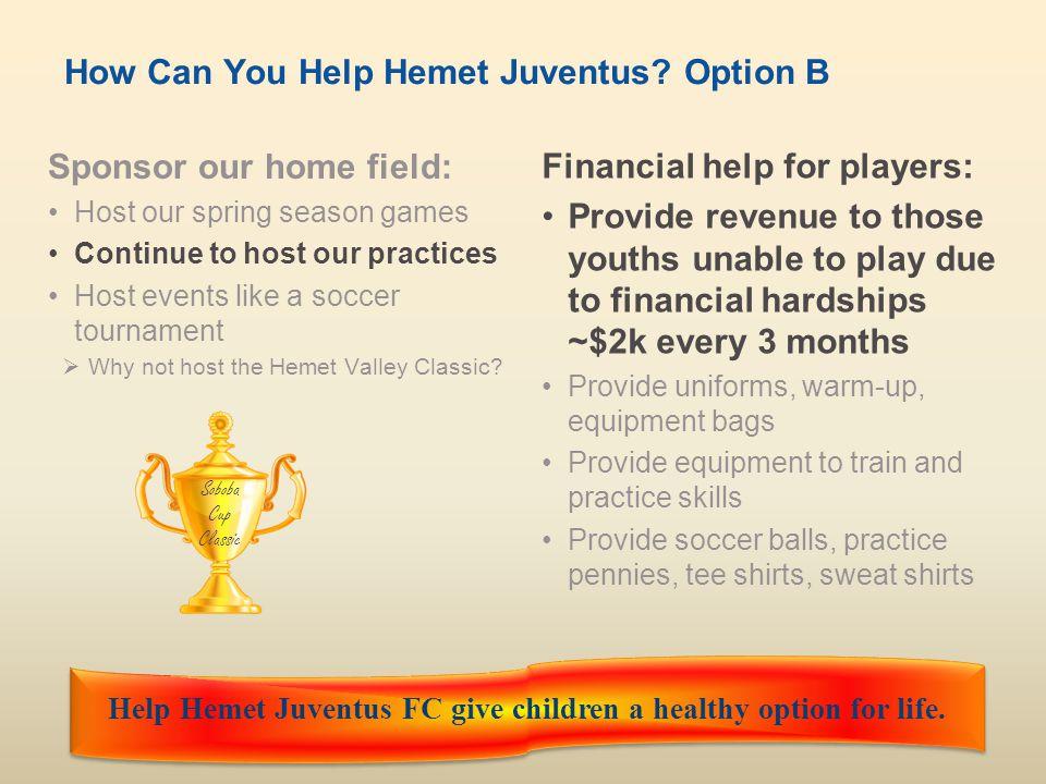 How Can You Help Hemet Juventus Option B