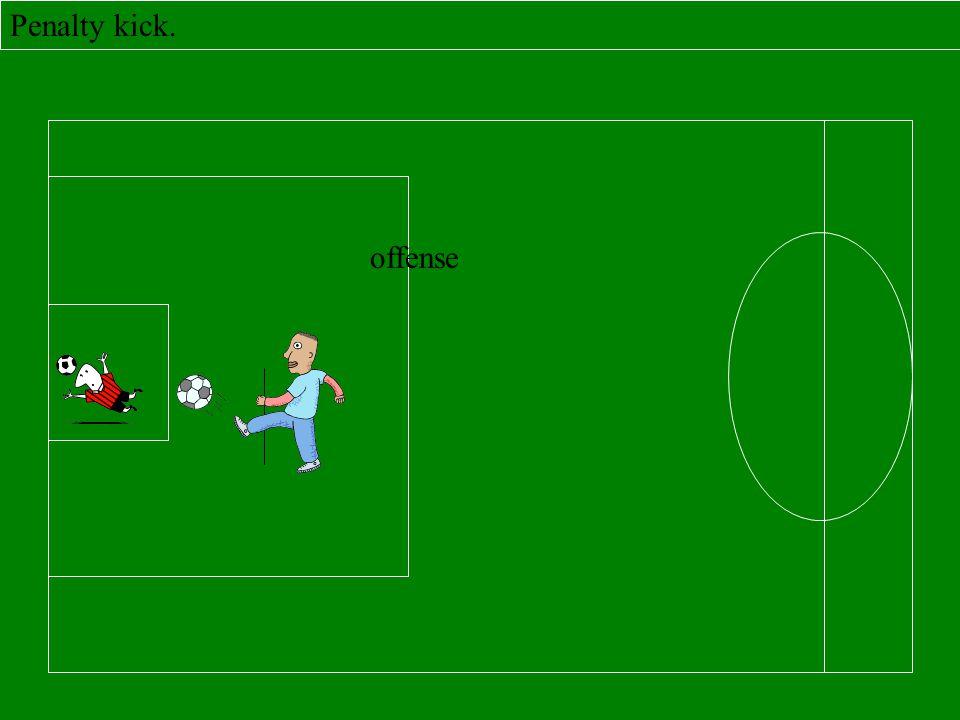 Penalty kick. offense