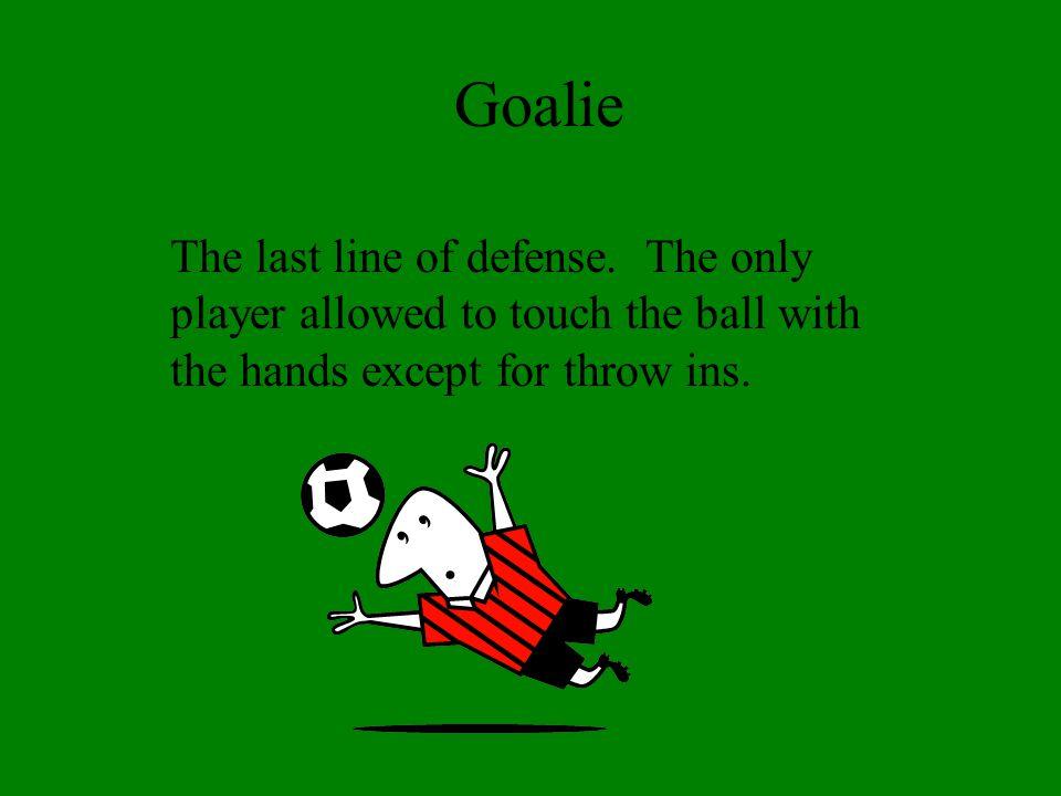Goalie The last line of defense.