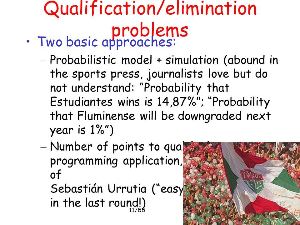 Qualification/elimination problems