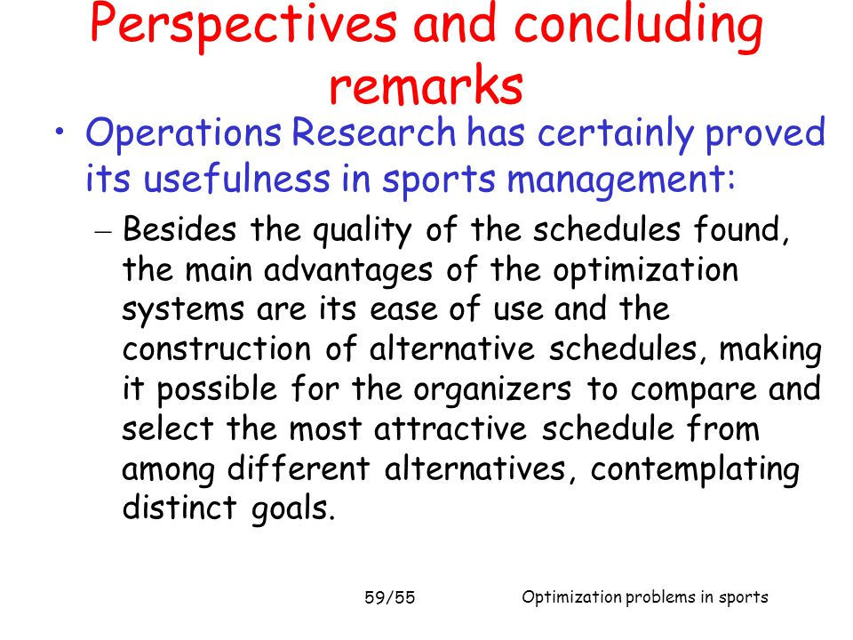 Perspectives and concluding remarks