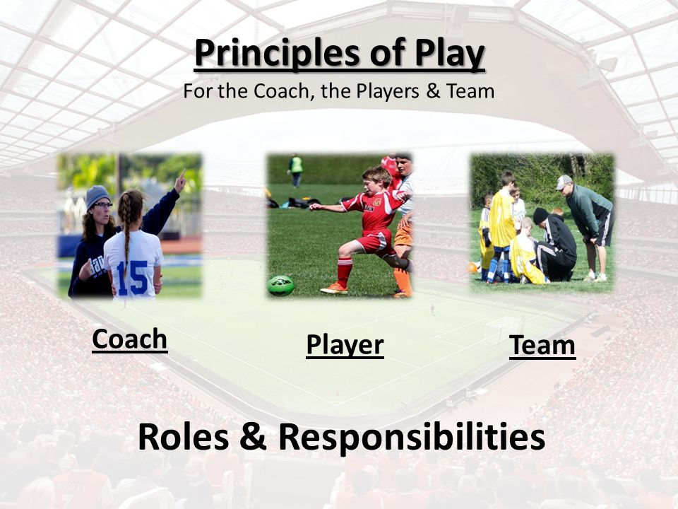 Principles of Play For the Coach, the Players & Team
