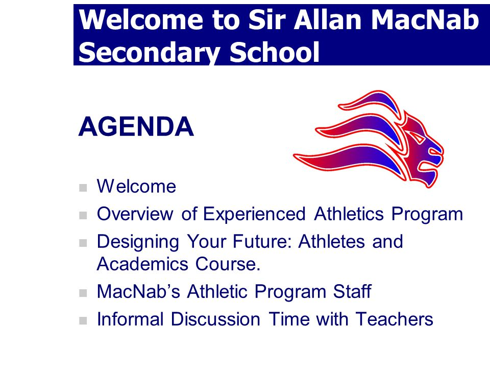 Welcome to Sir Allan MacNab Secondary School