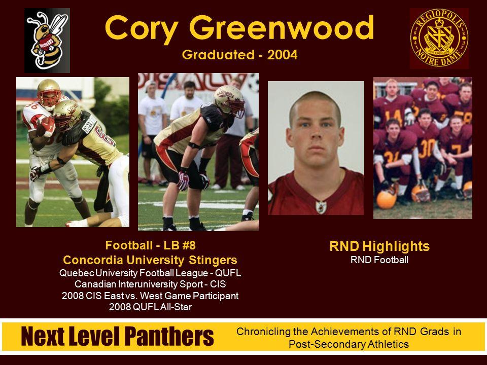 Cory Greenwood Graduated - 2004