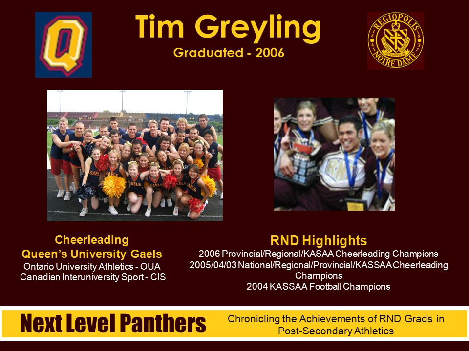 Tim Greyling Graduated - 2006