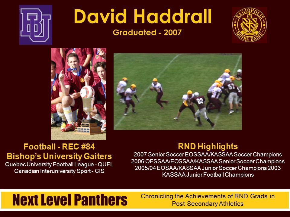 David Haddrall Graduated - 2007