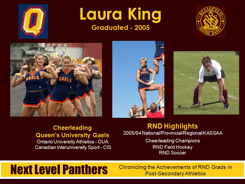 Laura King Graduated - 2005 Next Level Panthers