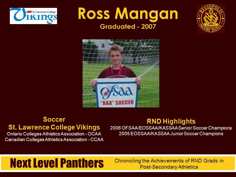 Ross Mangan Graduated - 2007