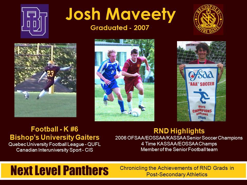 Josh Maveety Graduated - 2007