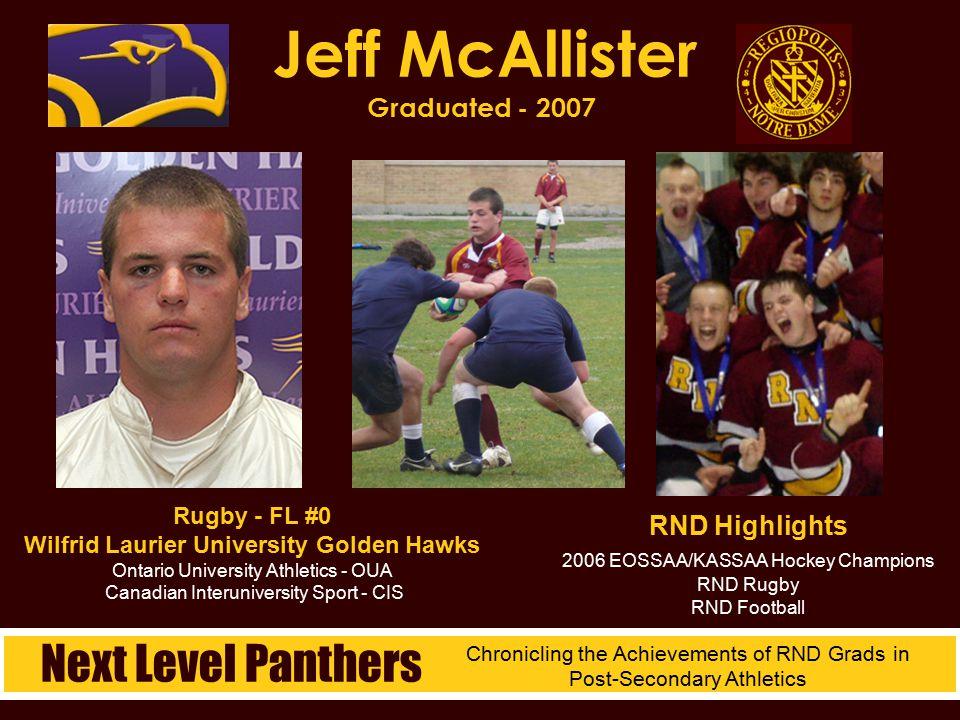 Jeff McAllister Graduated - 2007