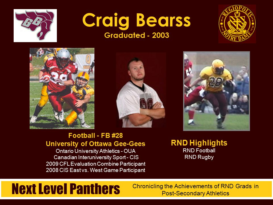 Craig Bearss Graduated - 2003