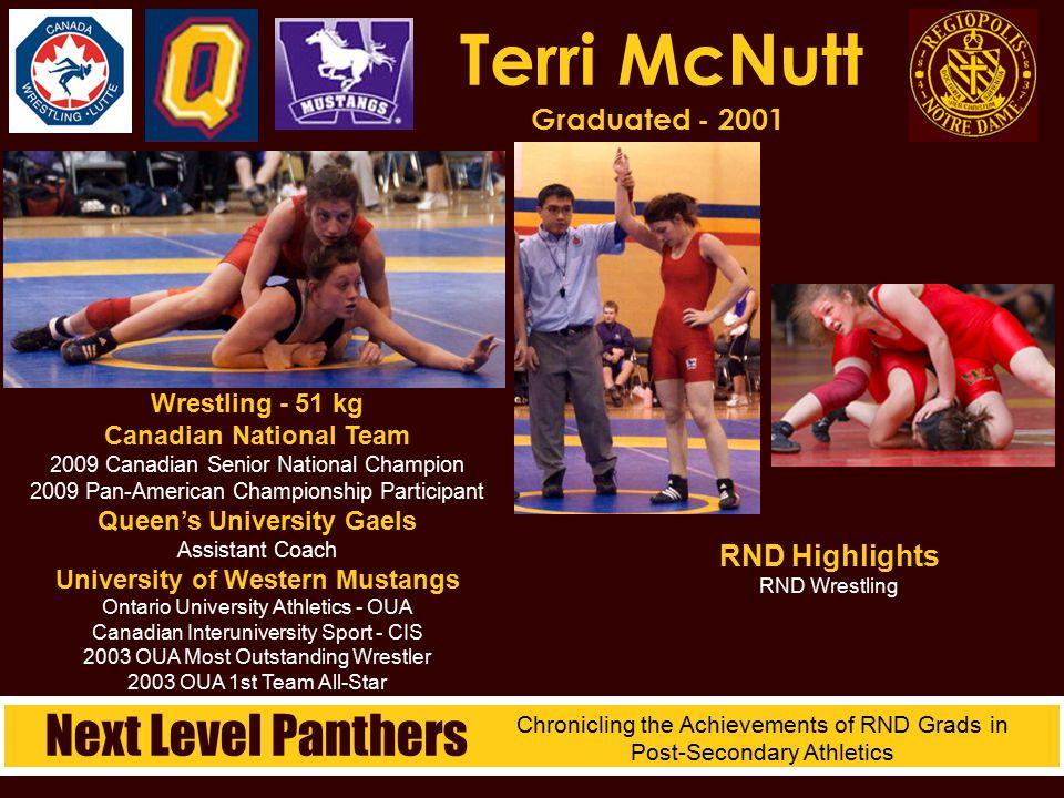 Terri McNutt Graduated - 2001