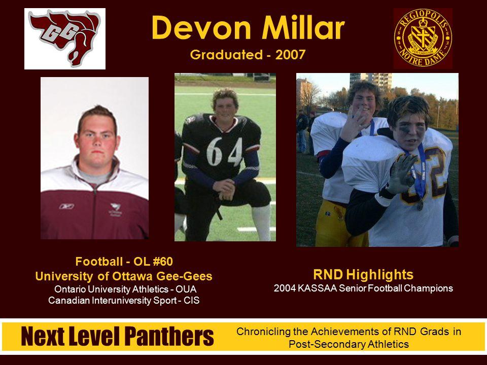 Devon Millar Graduated - 2007