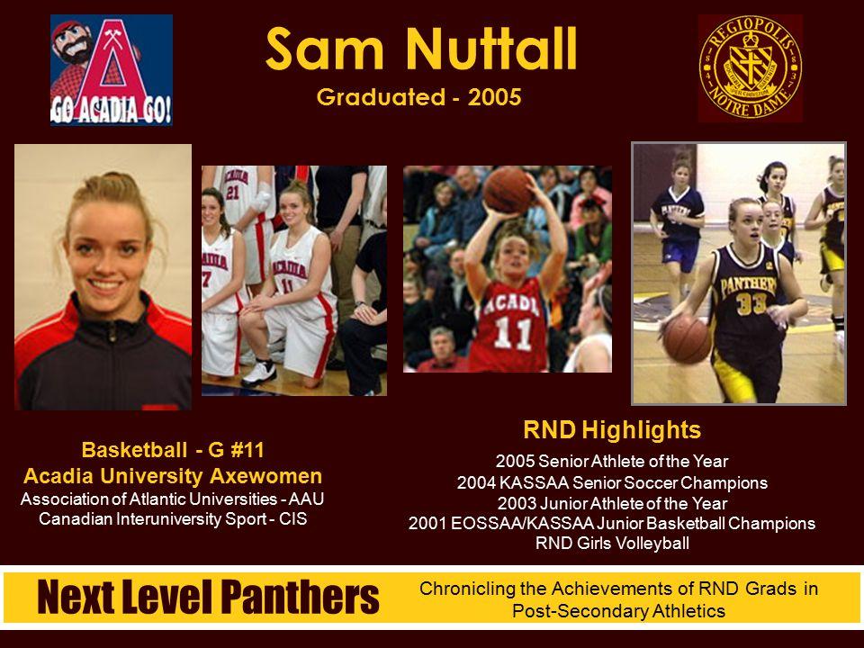 Sam Nuttall Graduated - 2005