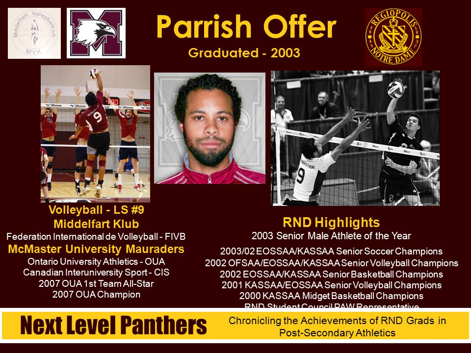 Parrish Offer Graduated - 2003