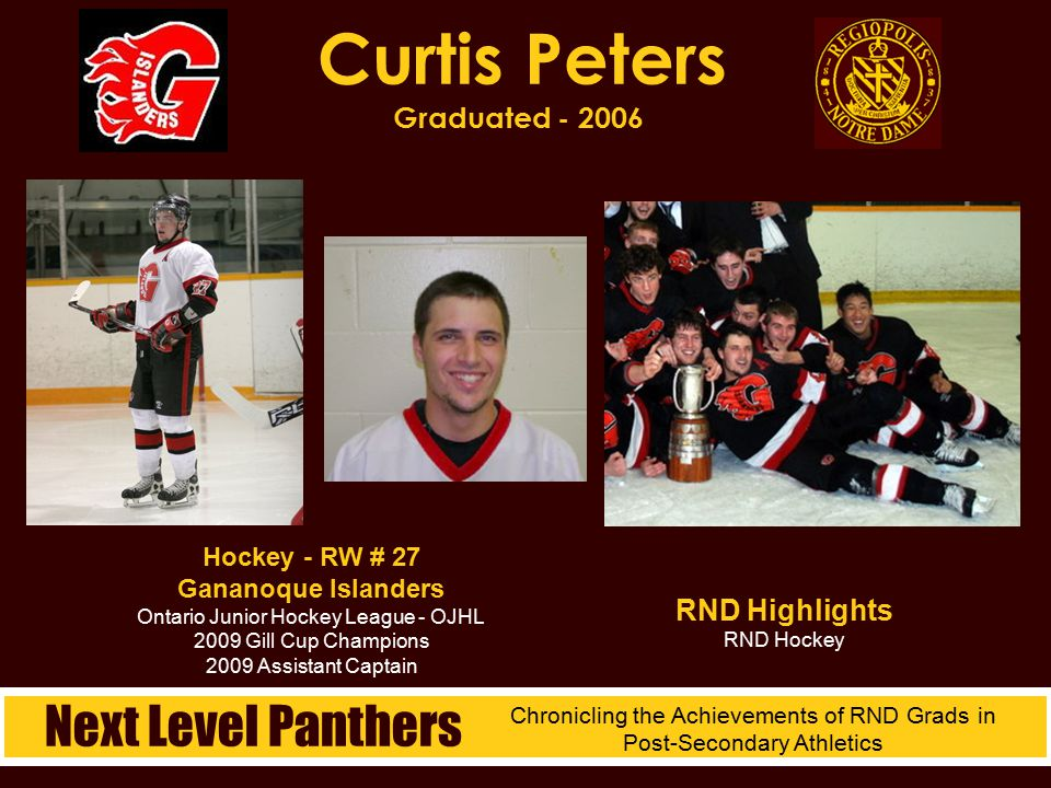 Curtis Peters Graduated - 2006