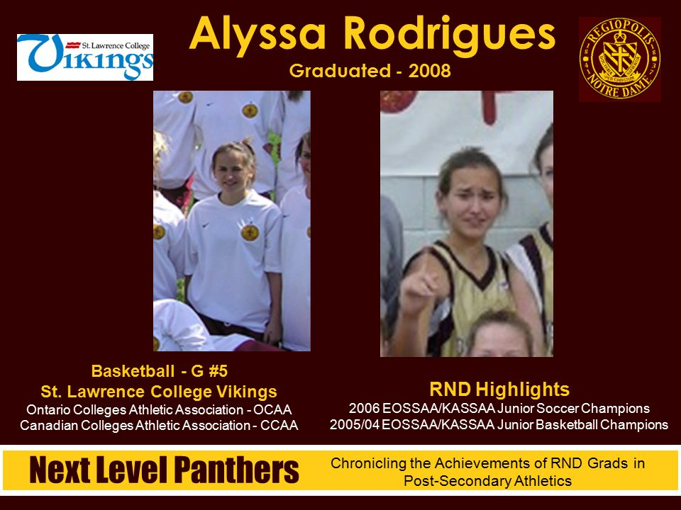 Alyssa Rodrigues Graduated - 2008