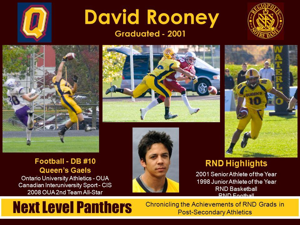 David Rooney Graduated - 2001