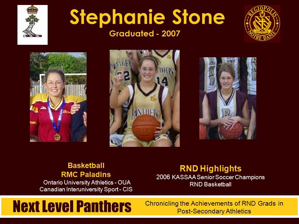 Stephanie Stone Graduated - 2007